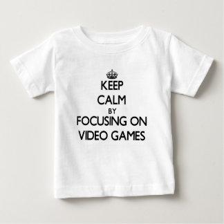 Keep Calm by focusing on Video Games Tshirt
