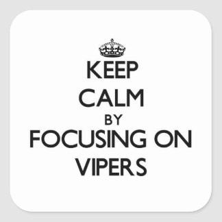 Keep Calm by focusing on Vipers Square Sticker