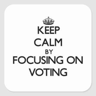 Keep Calm by focusing on Voting Square Stickers