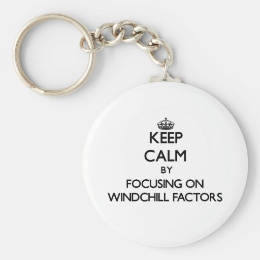 Keep Calm by focusing on Windchill Factors Keychain