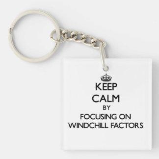 Keep Calm by focusing on Windchill Factors Acrylic Keychain
