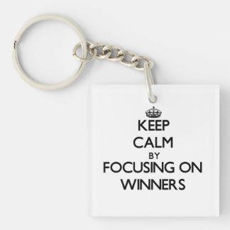 Keep Calm by focusing on Winners Key Chain