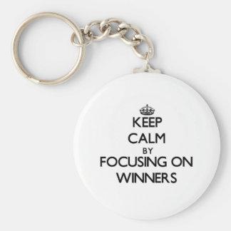 Keep Calm by focusing on Winners Keychain