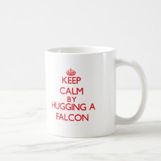 Keep calm by hugging a Falcon Coffee Mug