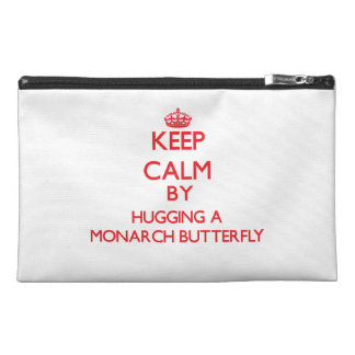 Keep calm by hugging a Monarch Butterfly Travel Accessory Bags
