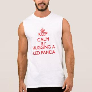 Keep calm by hugging a Red Panda Sleeveless Shirt