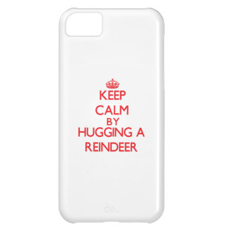 Keep calm by hugging a Reindeer iPhone 5C Case