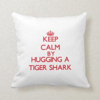 Keep calm by hugging a Tiger Shark Throw Cushion