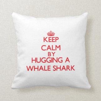 Keep calm by hugging a Whale Shark Cushions