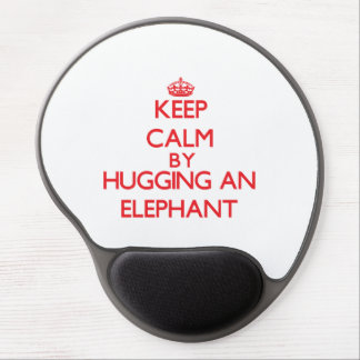 Keep calm by hugging an Elephant Gel Mouse Pad