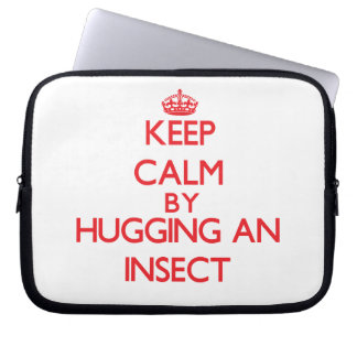 Keep calm by hugging an Insect Laptop Sleeve
