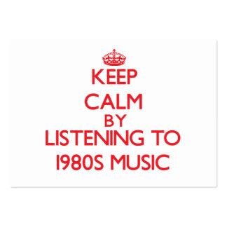 Keep calm by listening to 1980S MUSIC Business Card Templates