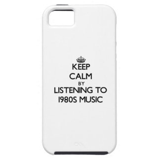 Keep calm by listening to 1980S MUSIC iPhone 5 Cover