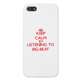 Keep calm by listening to BIG BEAT Case For iPhone 5/5S