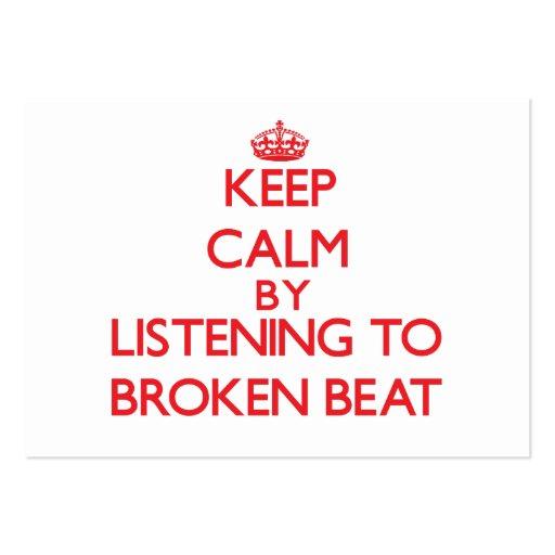Keep calm by listening to BROKEN BEAT Business Card Template