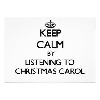 Keep calm by listening to CHRISTMAS CAROL Invite