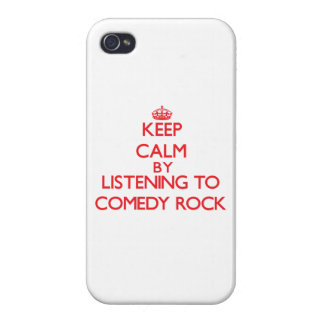 Keep calm by listening to COMEDY ROCK Case For iPhone 4