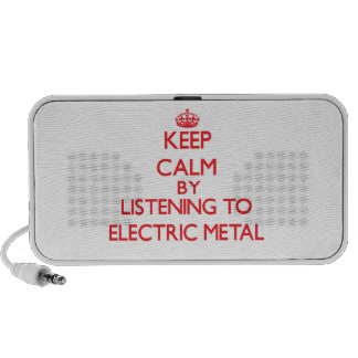 Keep calm by listening to ELECTRIC METAL Travel Speakers