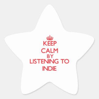 Keep calm by listening to INDIE Sticker