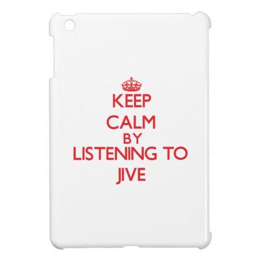 Keep calm by listening to JIVE iPad Mini Cases