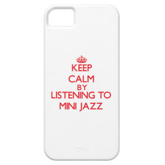 Keep calm by listening to MINI JAZZ iPhone 5/5S Case