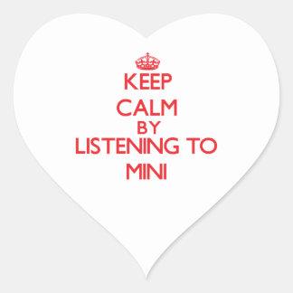Keep calm by listening to MINI Sticker