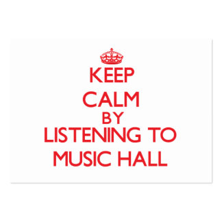Keep calm by listening to MUSIC HALL Business Cards