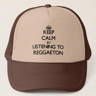 Keep calm by listening to REGGAETON Trucker Hat