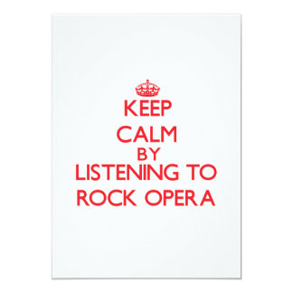 Keep calm by listening to ROCK OPERA Custom Announcement