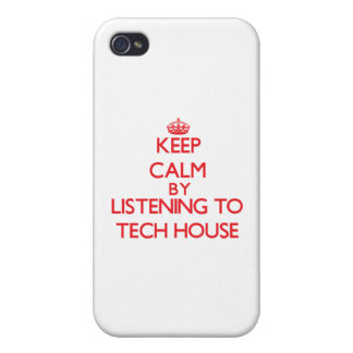 Keep calm by listening to TECH HOUSE Covers For iPhone 4