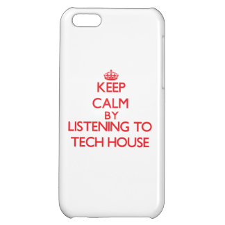Keep calm by listening to TECH HOUSE Cover For iPhone 5C