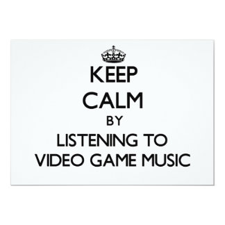 Keep calm by listening to VIDEO GAME MUSIC Personalized Announcement