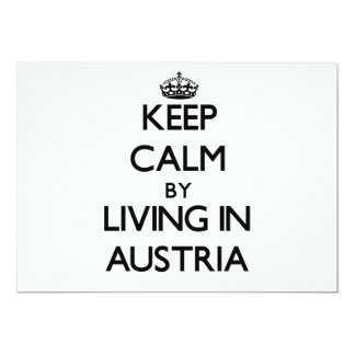Keep Calm by Living in Austria Invitation