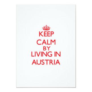 Keep Calm by living in Austria 13 Cm X 18 Cm Invitation Card