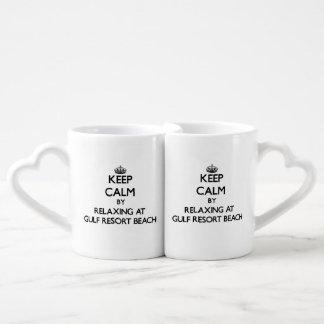 Keep calm by relaxing at Gulf Resort Beach Florida Lovers Mug Sets