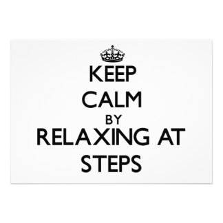 Keep calm by relaxing at Steps Massachusetts Custom Invitation