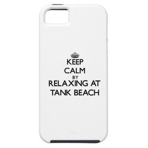 Keep calm by relaxing at Tank Beach Northern Maria iPhone 5 Covers