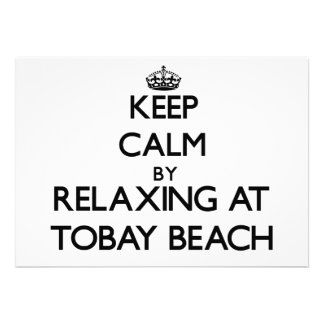Keep calm by relaxing at Tobay Beach New York Custom Announcement