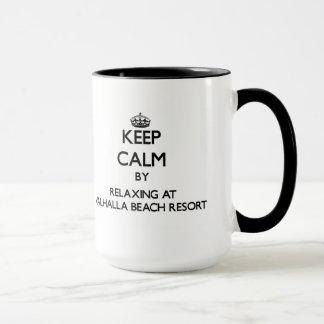Keep calm by relaxing at Valhalla Beach Resort Flo Mug