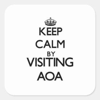 Keep calm by visiting Aoa Samoa Square Sticker