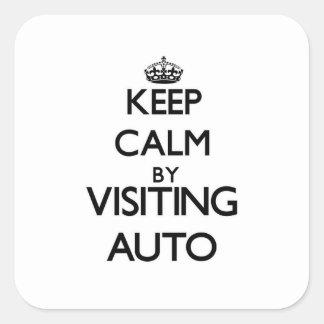 Keep calm by visiting Auto Samoa Square Sticker