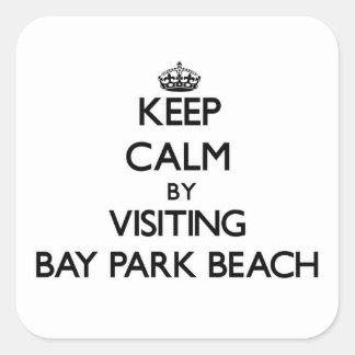 Keep calm by visiting Bay Park Beach Ohio Square Sticker