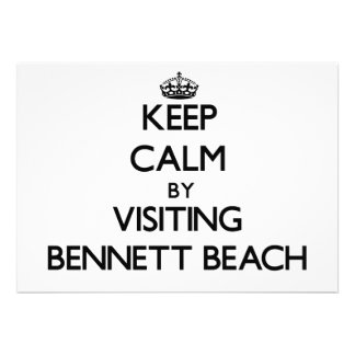 Keep calm by visiting Bennett Beach New York Personalized Announcement