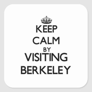 Keep calm by visiting Berkeley New Jersey Square Sticker
