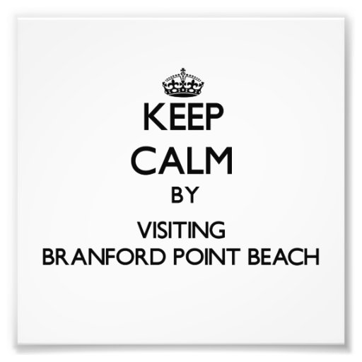 Keep calm by visiting Branford Point Beach Connect Photographic Print