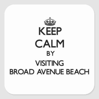 Keep calm by visiting Broad Avenue Beach Florida Square Sticker