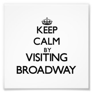 Keep calm by visiting Broadway New Jersey Art Photo