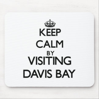 Keep calm by visiting Davis Bay Virgin Islands Mouse Pads