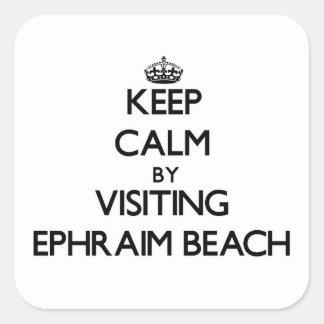 Keep calm by visiting Ephraim Beach Wisconsin Square Sticker