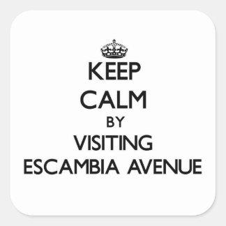 Keep calm by visiting Escambia Avenue Alabama Square Sticker